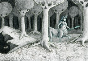 Lady Centaur in the woods