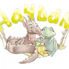 Faire-part dragon et grenouille
