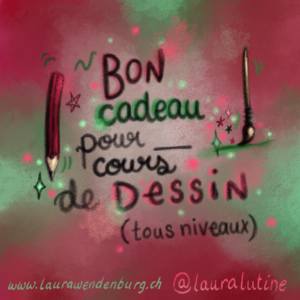 Bon pour un cours de dessin / Giftcoupon for a drawing course
